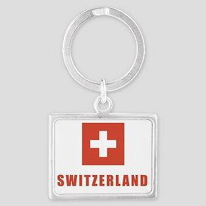 switz_flag Landscape Keychain