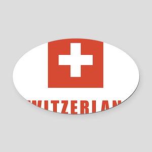 switz_flag Oval Car Magnet