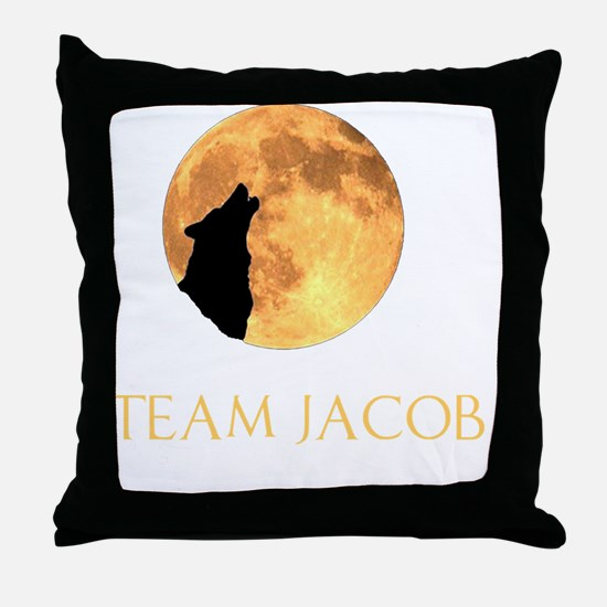 team jacob 1 back black Throw Pillow