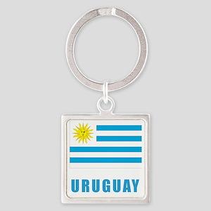 uruguay_flag Square Keychain