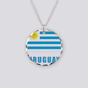 uruguay_flag Necklace Circle Charm