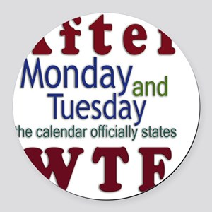 after_wtf Round Car Magnet