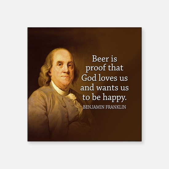 Ben Quote Beer Sticker