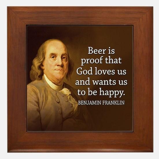 Ben Quote Beer Framed Tile