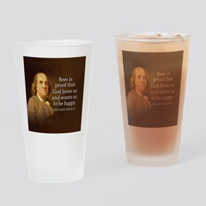 Ben Quote Beer Drinking Glass