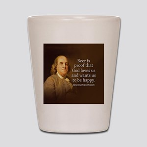 Ben Quote Beer Shot Glass