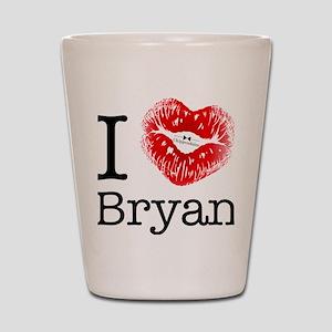i_heart_bryan Shot Glass