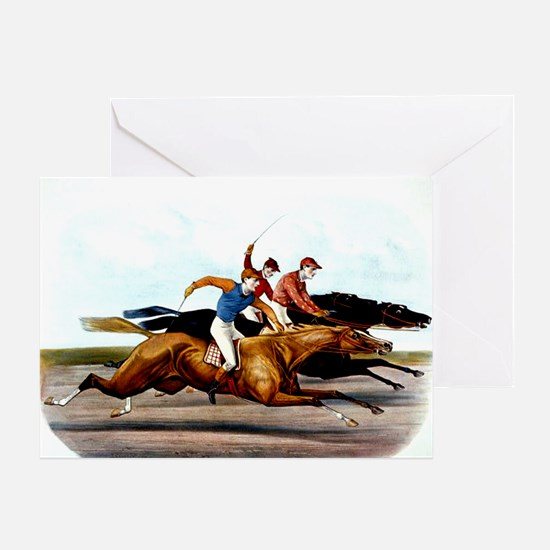 ilovehorseracing1 Greeting Card
