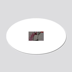 DEM UNICORN 20x12 Oval Wall Decal