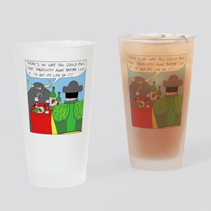 How It All Started - no text Drinking Glass
