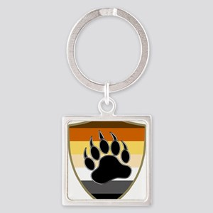 GAY BEAR PRIDE BEAR PAW SHIELD Keychains