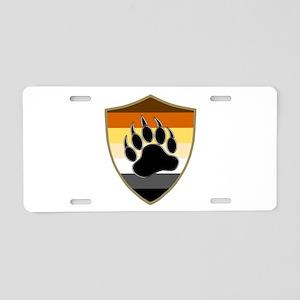 GAY BEAR PRIDE BEAR PAW SHIELD Aluminum License Pl