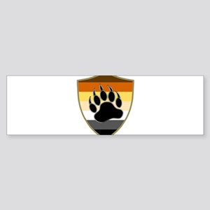 GAY BEAR PRIDE BEAR PAW SHIELD Bumper Sticker