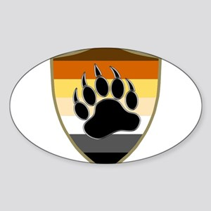GAY BEAR PRIDE BEAR PAW SHIELD Sticker