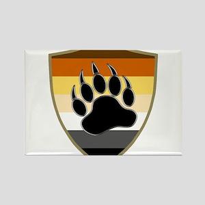 GAY BEAR PRIDE BEAR PAW SHIELD Magnets