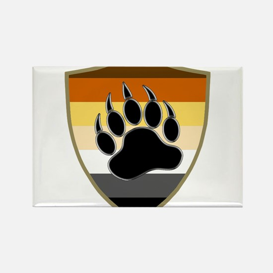 GAY BEAR PRIDE BEAR PAW SHIELD Magnets
