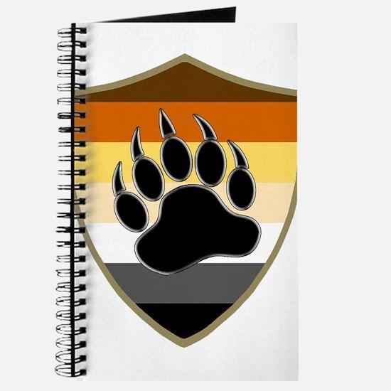 GAY BEAR PRIDE BEAR PAW SHIELD Journal