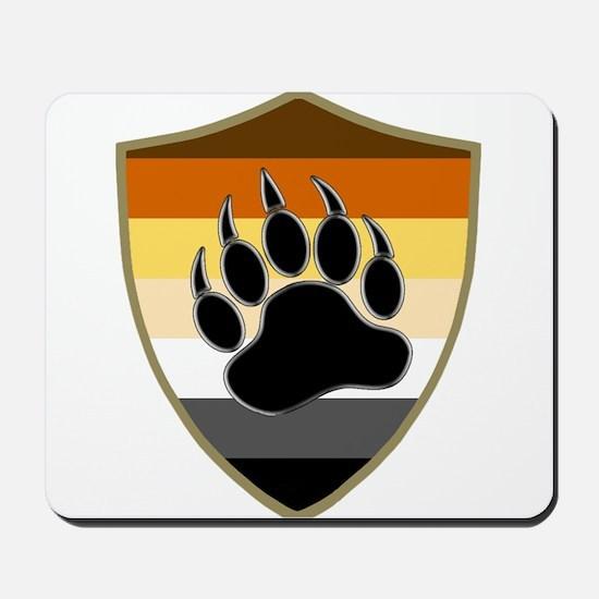 GAY BEAR PRIDE BEAR PAW SHIELD Mousepad
