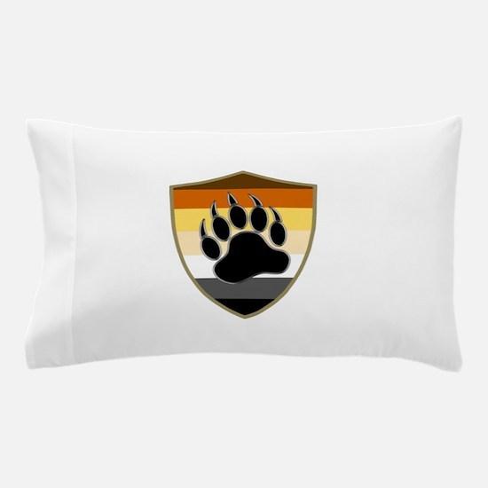 GAY BEAR PRIDE BEAR PAW SHIELD Pillow Case