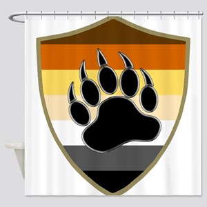 GAY BEAR PRIDE BEAR PAW SHIELD Shower Curtain