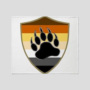 GAY BEAR PRIDE BEAR PAW SHIELD Throw Blanket