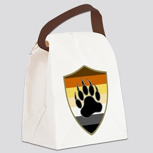 GAY BEAR PRIDE BEAR PAW SHIELD Canvas Lunch Bag