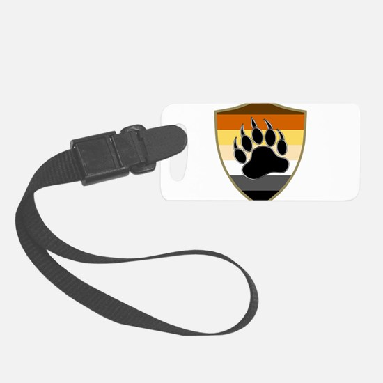 GAY BEAR PRIDE BEAR PAW SHIELD Luggage Tag