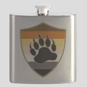 GAY BEAR PRIDE BEAR PAW SHIELD Flask