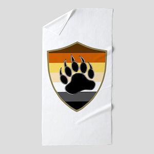 GAY BEAR PRIDE BEAR PAW SHIELD Beach Towel
