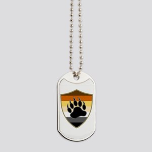 GAY BEAR PRIDE BEAR PAW SHIELD Dog Tags