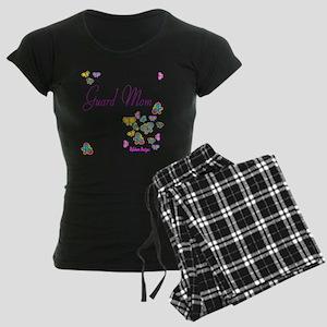 Guard Mom Butterflies Women's Dark Pajamas