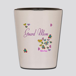 Guard Mom Butterflies Shot Glass