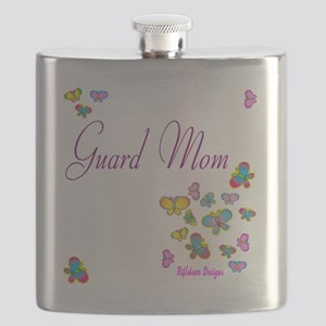 Guard Mom Butterflies Flask