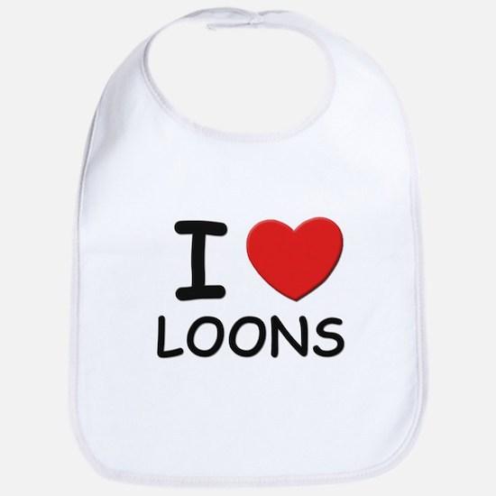 I love loons Bib