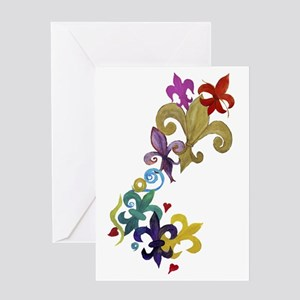 Fleur de lis t-shirts Greeting Card
