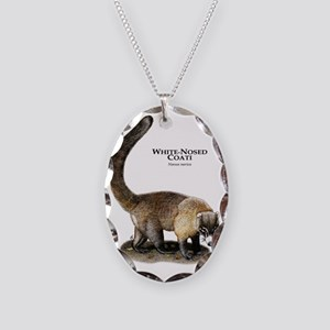 White-Nosed Coati Necklace Oval Charm
