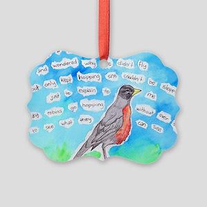 Robin Picture Ornament
