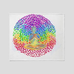 Meditate lg Throw Blanket