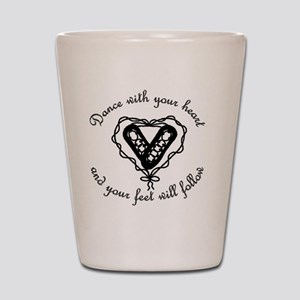 Ghillieheart4 Shot Glass