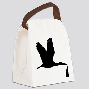 stork_baby Canvas Lunch Bag