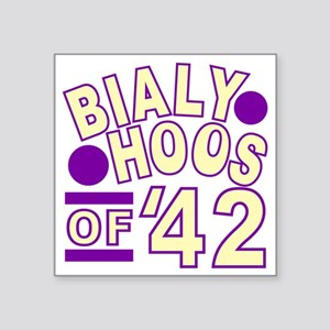 "bialyhoos Square Sticker 3"" x 3"""