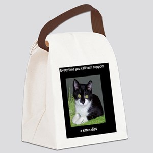 tech_tall Canvas Lunch Bag