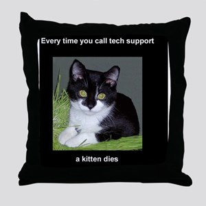 tech_tall Throw Pillow