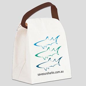 tricolour Canvas Lunch Bag