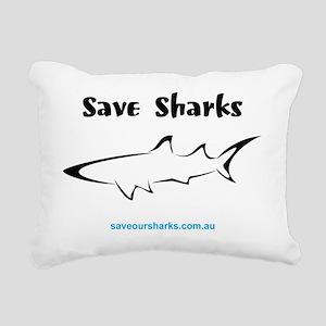 savesharks1 Rectangular Canvas Pillow