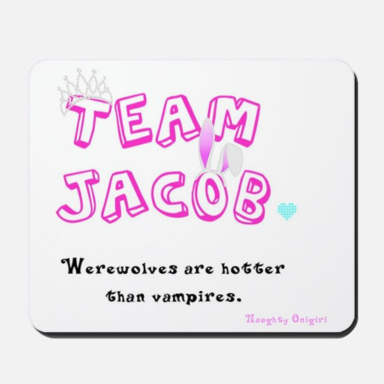 Team Jacob - by Naughty Onigiri Mousepad