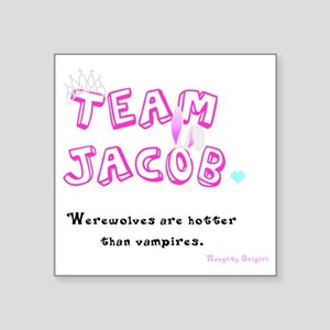 "Team Jacob - by Naughty Oni Square Sticker 3"" x 3"""