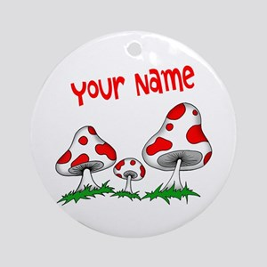 Shrooms Round Ornament