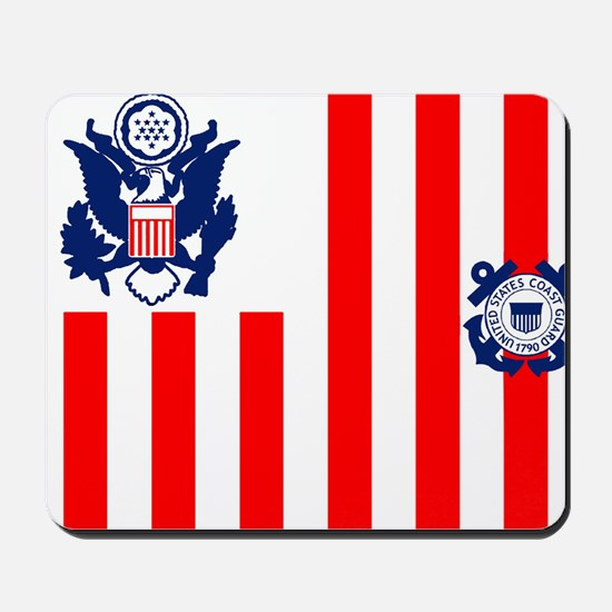 3-USCG-Flag-Ensign-Full-Color Mousepad