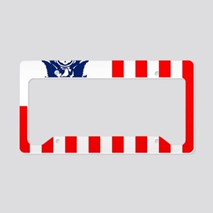3-USCG-Flag-Ensign-Full-Color License Plate Holder